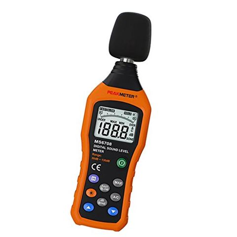 PEAKMETER MS6708 Digital Sound Level Meter DB Meter Measuring 30dB To 130dB