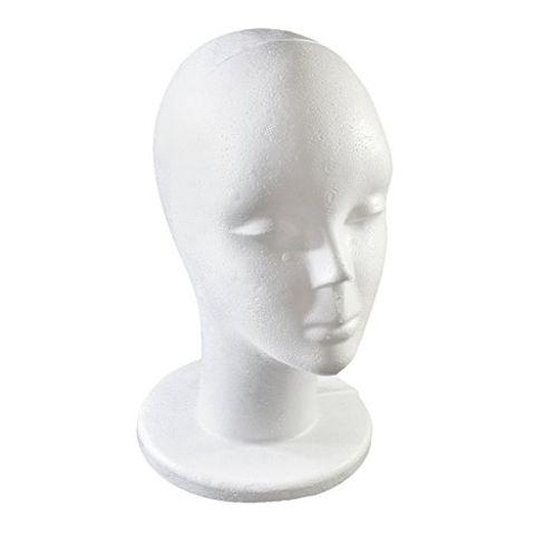 Female White Foam Styrofoam Mannequin Hat Cap Dummy Wig Head Display Holder 20Model Head