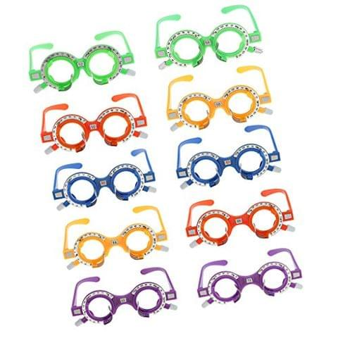 10 Pieces/box Plastic Colorful Optical Trial Lens Frame Optometry Equipment Eyes Optician
