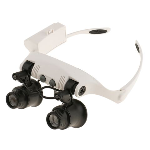 Double Eye LED Head Magnifying Glass Lens Loupe 10x 15x 20x 25x Jeweler Watch Repair Tool Magnifier