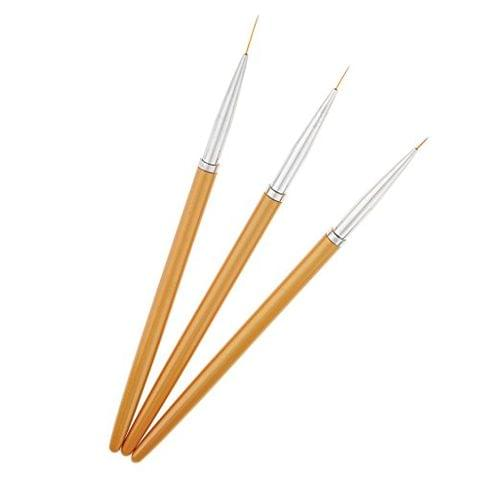 3 Pieces Nail Art Liner Acrylic Decoration Pen Brush Painting Drawing Tool
