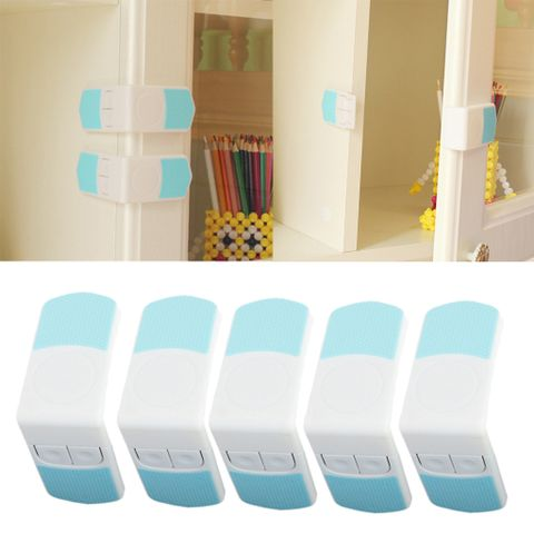 5x Child Toddler Safety Locks Baby Proofing for Cabinet Toilet Seat Fridge Oven