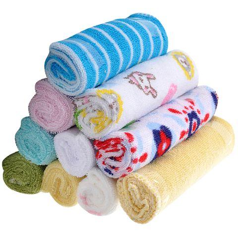 8 Piece Baby Wash Wipe Sweat Towel Bibs Feeding Small Square Towel 20*20cm