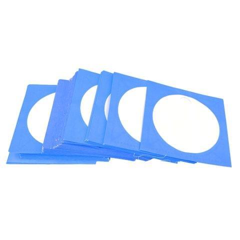 100PCS CD DVD Disc Storage Keeper Clear Window Envelope Holder Sleeves Blue