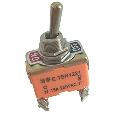 Toggle Switch, DPST ON-OFF 2 Position 4 Pins Latching, AC 250V 15A