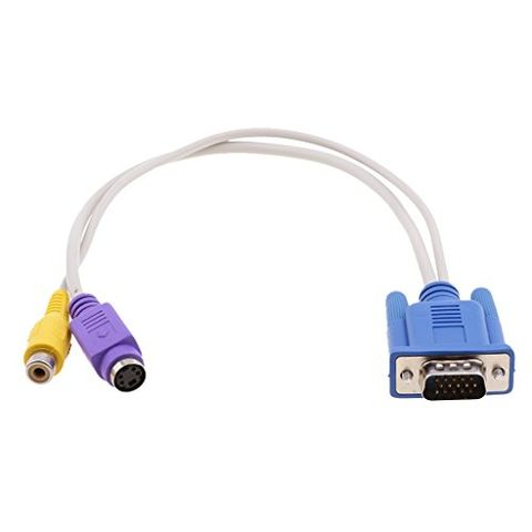 PC Laptop Computer 15 Pin VGA to TV S-Video/RCA AV Out Converter Adapter Cable