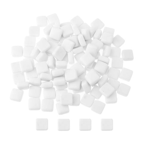200g White Glass Mosaic Tiles Puzzle Mosaic For Home Decor Crafts Supplies
