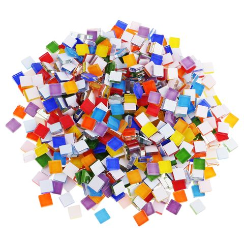 390 Piece Multicolor Square Vitreous Glass Mosaic Tiles Tessera for DIY Crafts 10x10mm