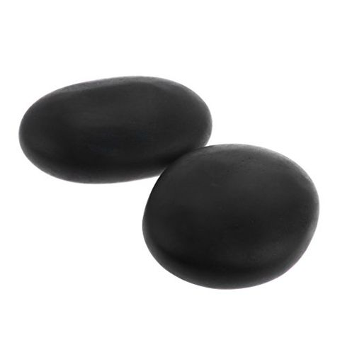 2pcs /lot Massage Stones Massage Lava Natural Stone Set Hot Spa Rock Basalt Stones for Relaxation and Body SPA