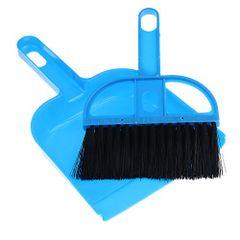Mini Desktop Sweep Cleaning Brush Small Broom Dustpan Set Cleaning Tools Blue