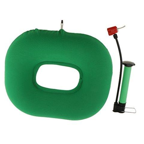 Comfortable Donut Inflatable Chair Cushion Wheelchair Hemorrhoid Seat Pillow + Air Pump for Back Coccyx Tailbone Pain Lumbar Support