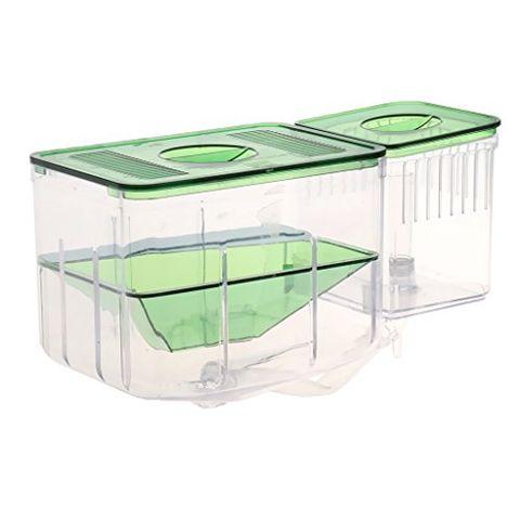 Clear Fish Breeding Isolation Box Tank Aquarium Auto Circulating Fish Hatchery Transparent 20 X 10x 12cm