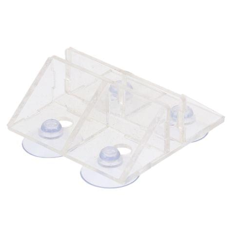 Acrylic Aquarium Breeding Separator Suction Cup Divider Sheet Holder Clip