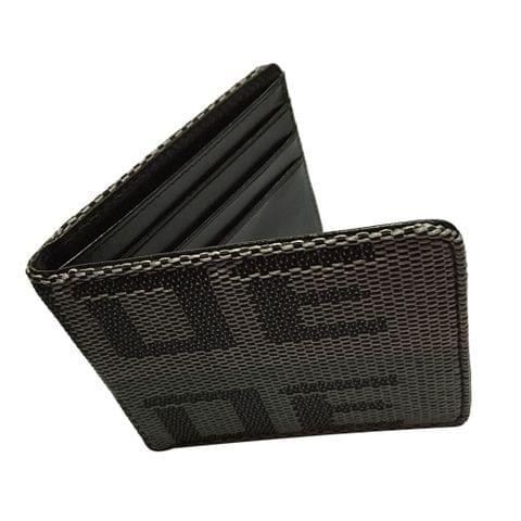 Car Racing Bride Wallet Credit and Business cards Holder Pocket Black Gray