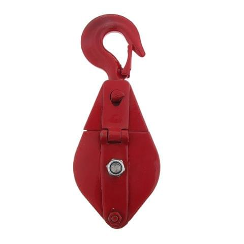 1102 lbs Poly Rope Hoist Pulley Wheel Block and Tackle Puller Lift Tools