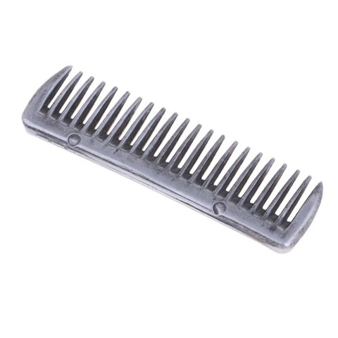 Steel Polished Currycomb Horse Pony Grooming Comb Tool equestrian accessories