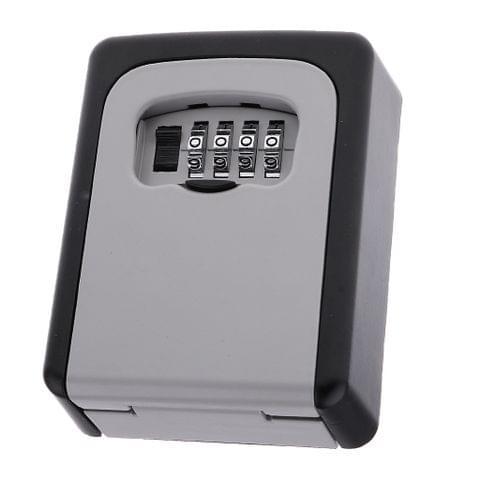 Alloy 4 Digit Combination Password Key Card Lockbox Wall Mounted Key Lockbox