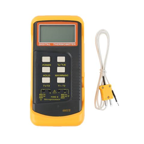 6802 II Dual Channel Digital Thermometer With 2 K-Type Thermocouple Sensor