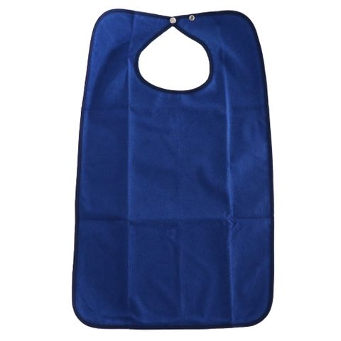 Aid Bib for Elderly Waterproof Mealtime Bib Protector Aid Apron(No Crumb Catcher)
