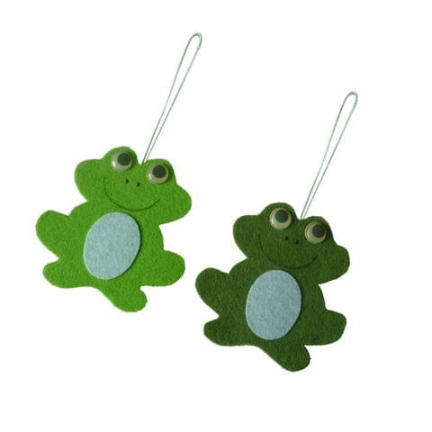 2pcs Creative Easter Hanging Decoration Easter Frog Strap Party Home Ornament Gift