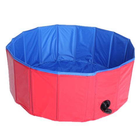 Foldable Pet Dogs Cats Swimming Cool Pools Round Shape Bathing Tub Dia. 80cm