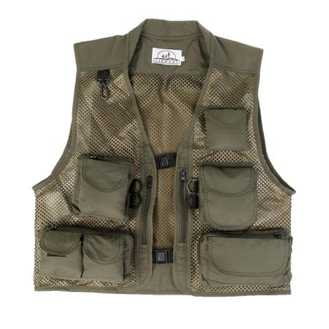 Mens Fashionable Anti-Wrinkle Breathable Multi-Pocket Fishing Camping Hunting Mesh Vest Outdoor Photography Jacket 3XL