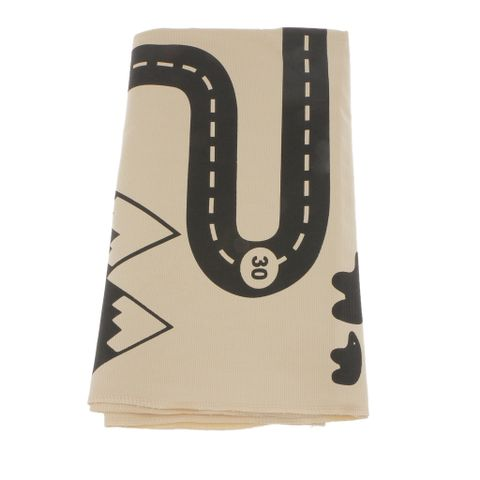Linen Floor Carpet Baby Indoor Gym Game Play Mats Playmat Crawling Pad Children Room Blanket ( Car Track Puzzle Pattern )