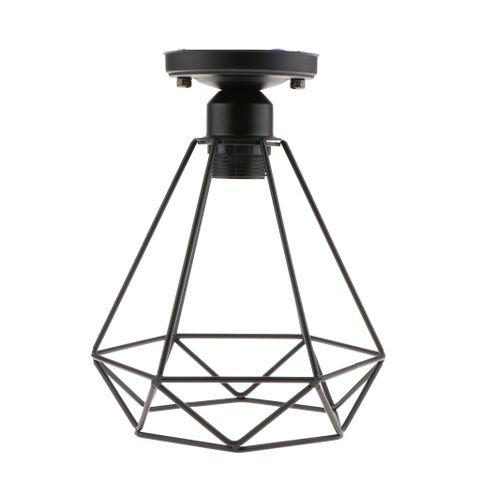 Black Retro Wire Loft Pendant Ceiling Ligthshade Lamp Shade House Lighting E27