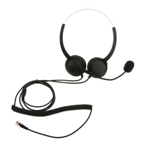 VH530D Hands-free Corded Call Center Headset W/ Noise Cancelling Microphone