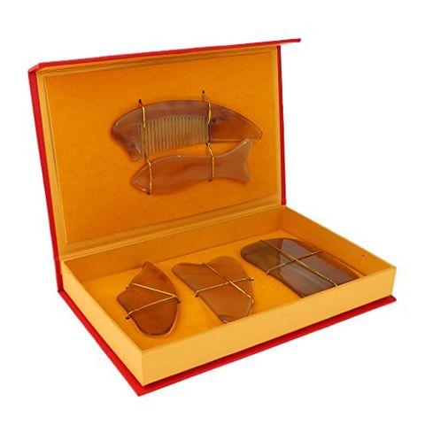 Set of 5 Pieces Gua Sha Scraping Tool Guasha Massage Board Scrapper Comb Kit