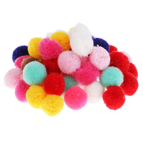 50 Pieces Creative Mixed Fluff Craft Yarn Pom Poms Balls for DIY Craft Projects