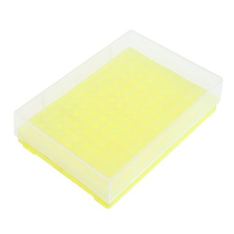 Laboratory 96-socket 0.2ml Centrifuge Tube Stand Holder Box Lab Supplies -Yellow