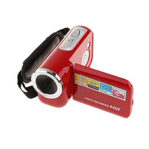 720P Digital Camcorder Portable Video Camera DV DVR 8X Zoom 18'' Screen Red