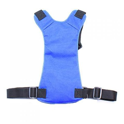 Breathable Synthetic Fabric with Nylon Webbing Straps Dog Harness Safety Equipment Pet Supplies Blue L