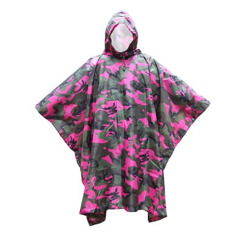 Waterproof Raincoat for Hunting Camping - Camouflage Red