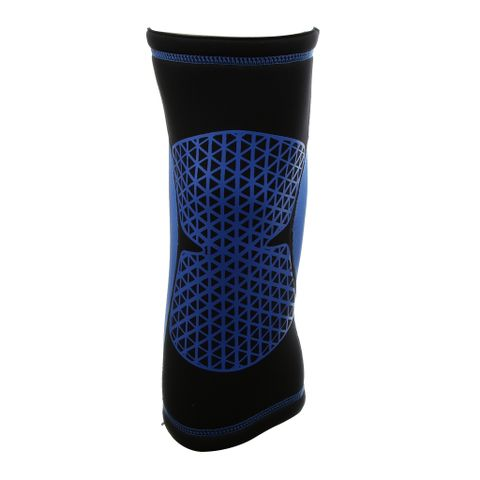 Sports Basketball Soccer Running Cycling Knee Support Protective Gear Soft Sweat Absorbing Sleeve Kneepad Brace -Blue L