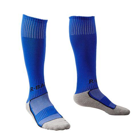 1 Pair Kids Towel Bottom Football Soccer Training Socks Team Socks - Blue