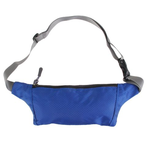 Outdoor Travel Camping Hiking Sports Running Bum Bag Pack Waist Belt Zip Pouch Cellphone Passport Money Storage Holder - Blue