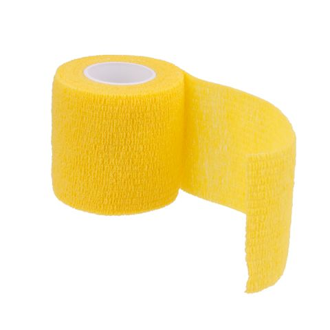 Outdoor Hiking Camping Accessory Body Care Treatment Self-Adhesive Bandage Tape Yellow