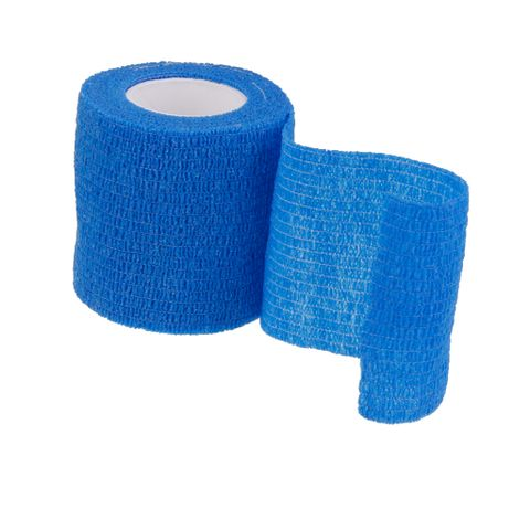 Outdoor Hiking Camping Accessory Body Care Treatment Self-Adhesive Bandage Tape Blue