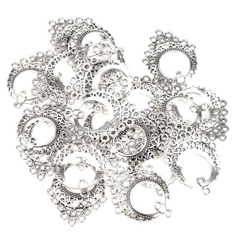 20 Pieces Tibetan Silver Chandelier Earring 11 Loops Ring fit Pendant DIY Finding Jewelry Making