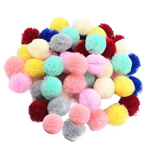 50 Pieces Candy Color Kids Girl Baby Headband DIY Ball Hair Band Clip Accessories Headwear