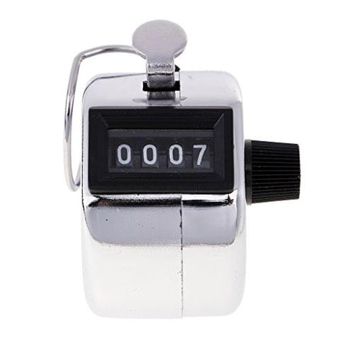 4 Digit Hand Tally Counter, Digital Pitch Counters Clicker Handheld Mechanical Numbers Click Counters for Sports Games