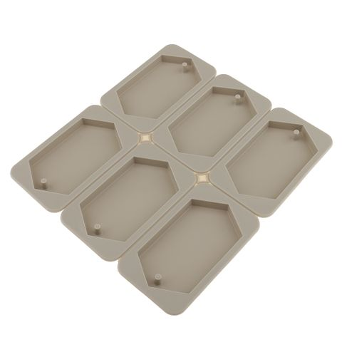 6-Cavity Silicone Aroma Dried Flower Wax Tablet Candle Mould DIY Wax Plaster Mold Polygon Shaped