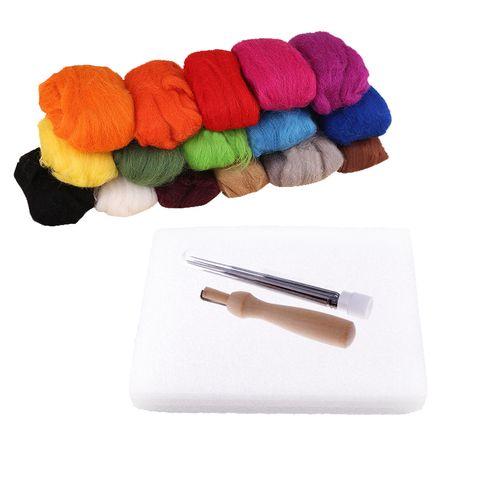 DIY Needle Felting Starter Kit Set 160g Wool Needles Felt Foam Mat Tool