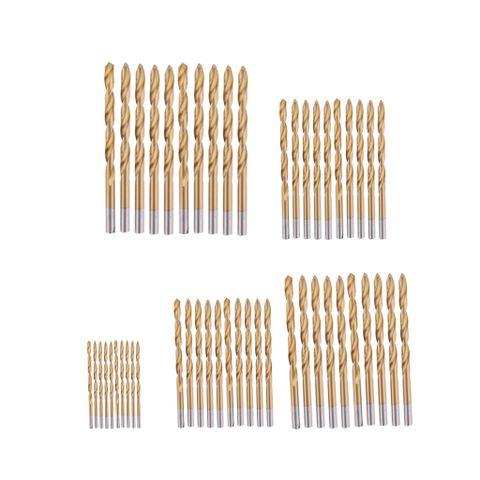 60pcs/Set Titanium Coated HSS Drill Bit Set Tool 1.0mm-3.5mm f/ Wood Plastic