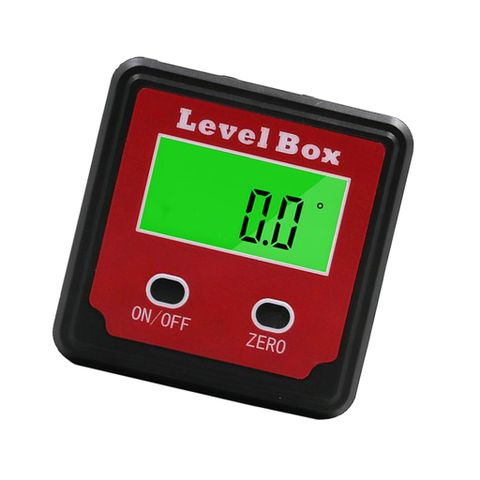 4x90° Digital Level Box Inclinometer Angle Gauge Protractor Red