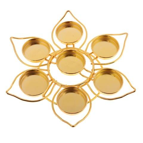Assembled Lotus Style Alloy Butter Lamp Candle Holder Ghee Lamp Holder Tibetan Butter Brass Oil Lamp Buddha