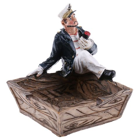 1pc European Style Pirate Ashtray for Home Office Decorative Ornament