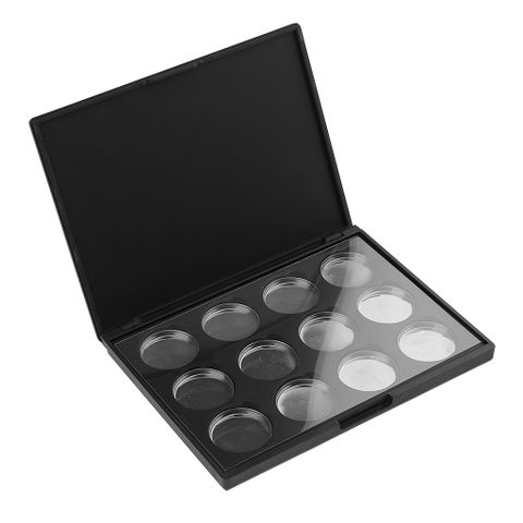 12 Holes Empty Pans Aluminum Palette for Eye Shadow Eyeshadow Lipstick Blusher Powder Makeup Cosmetics DIY